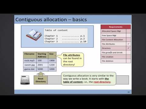 CSCI 3150 Lecture - File Allocation (Nov 6, 1 of 2)