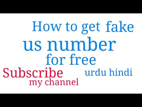 How to get us number for free
