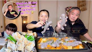 Kì nhông ngàn hoa lội sup bò thần thánh & khoai mì nấu nước cốt dừa chiêu đãi trùm cuối # 834
