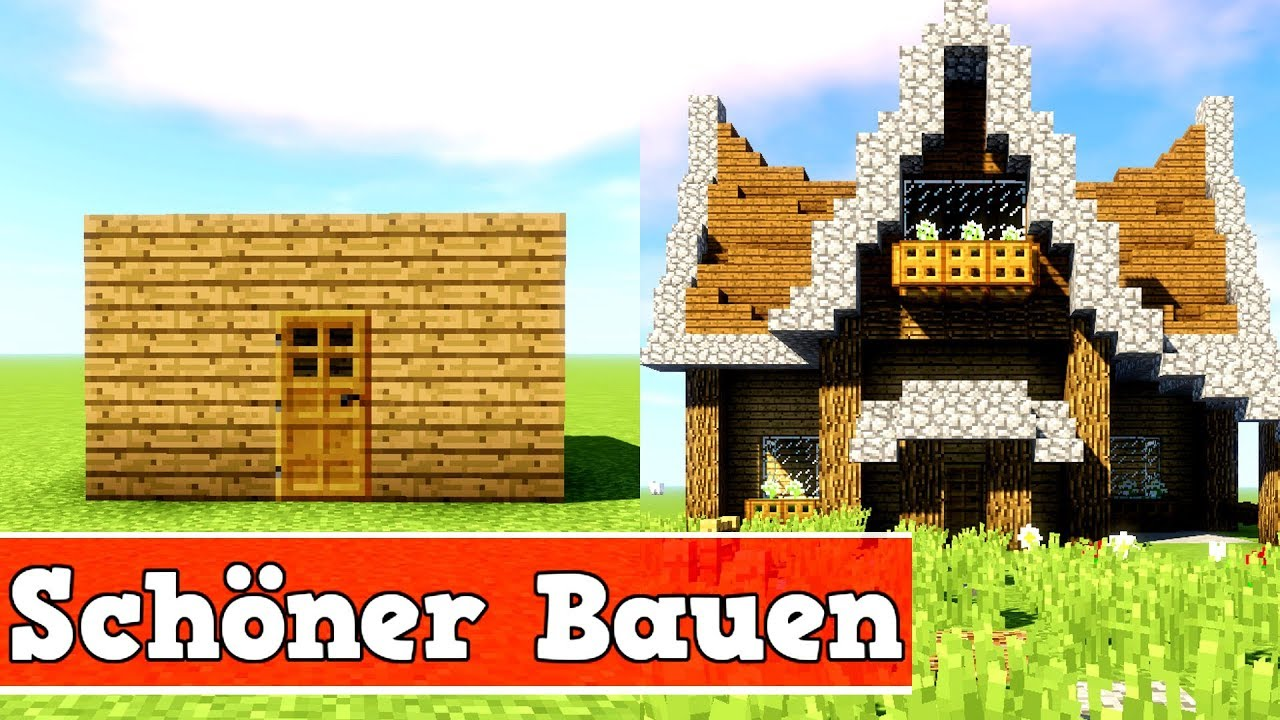 wie baut man ein sch nes haus in minecraft minecraft. Black Bedroom Furniture Sets. Home Design Ideas