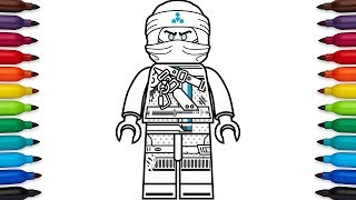 How to draw Lego Zane from Ninjago: Hunted - Season 9
