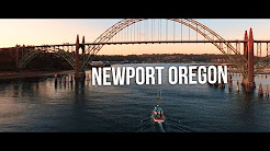 Newport Oregon Aerial 4K