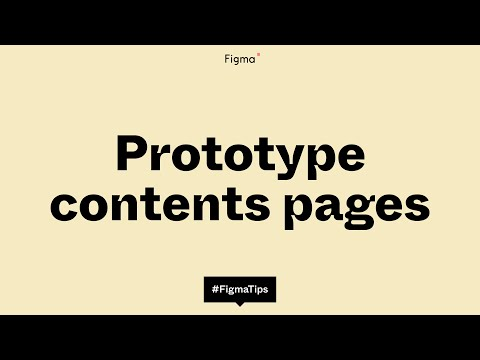 Adding a contents page to your prototypes
