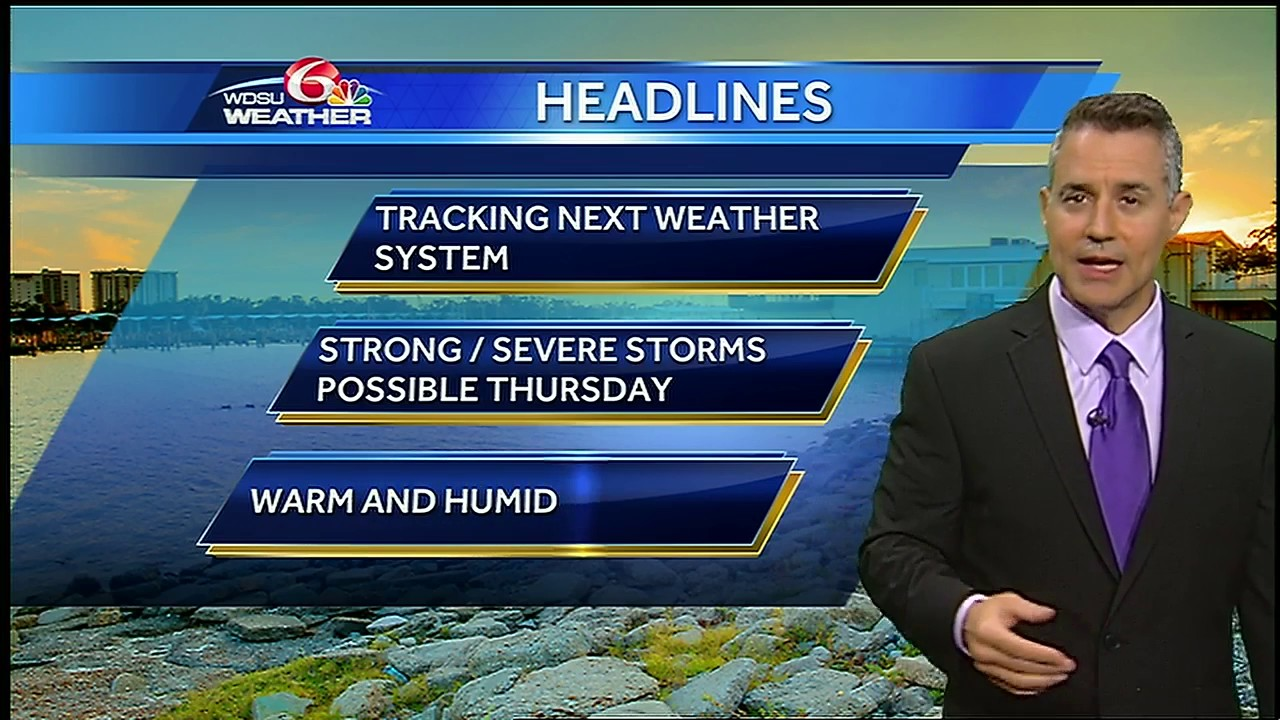 Tuesday evening: severe weather potential