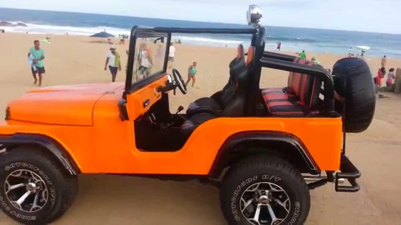 hot orange cj jeep replica [ 1280 x 720 Pixel ]
