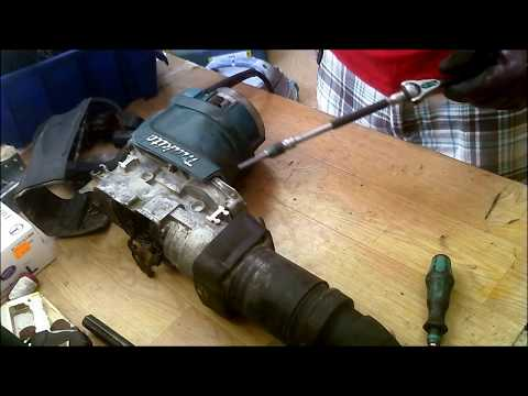 How to repair Makita hammer drill hr5201c gears armature ball bearings