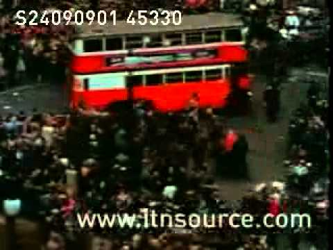 Scenes From London's Victory In Europe (VE DAY) Celebrations ENGLAND 1945