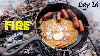 THE BOMB Corn Fritter Pancakes on a Campfire! | 28 Day Fire Challenge | Food & Fire