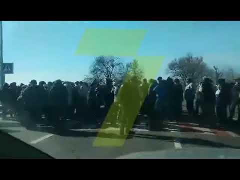 Новости 7 канал Одесса: Жители Одесской области в знак протеста перекрыли трассу Одесса - Рени