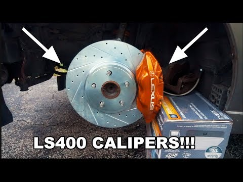 Big Brake Upgrade: LS400 Brake Conversion On IS300!!!