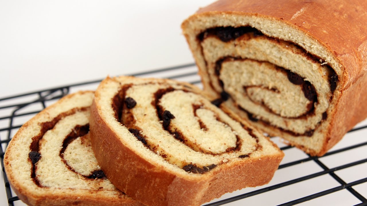 Homemade Cinnamon Raisin Bread Recipe - Laura Vitale - Laura in the ...