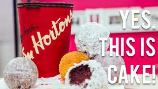 How To Make A Tim Hortons Cup And Timbits...out Of Cake!! Oh... Canada!