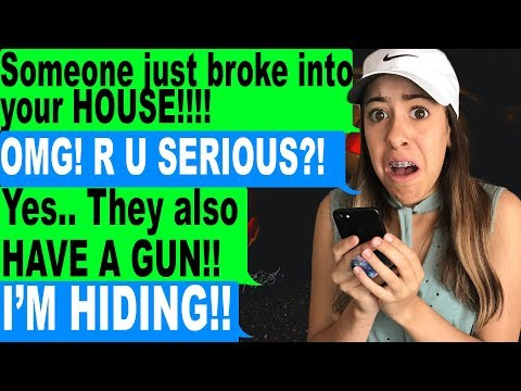MY NEIGHBOR BROKE INTO MY HOUSE AT MIDNIGHT! Scary Text Messages IRL