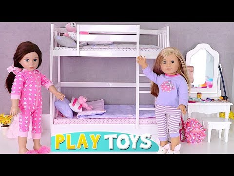 Baby Doll Bunk Bed Room and Bathroom Toys Play! 🎀