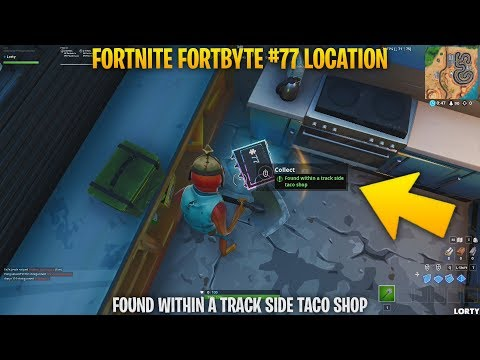 Fortnite Fortbyte #77   Found within a track side taco shop