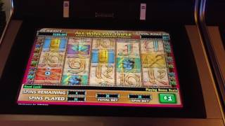 High Limit Cleopatra $20 Bet Free Spins bonus IGT slot machine