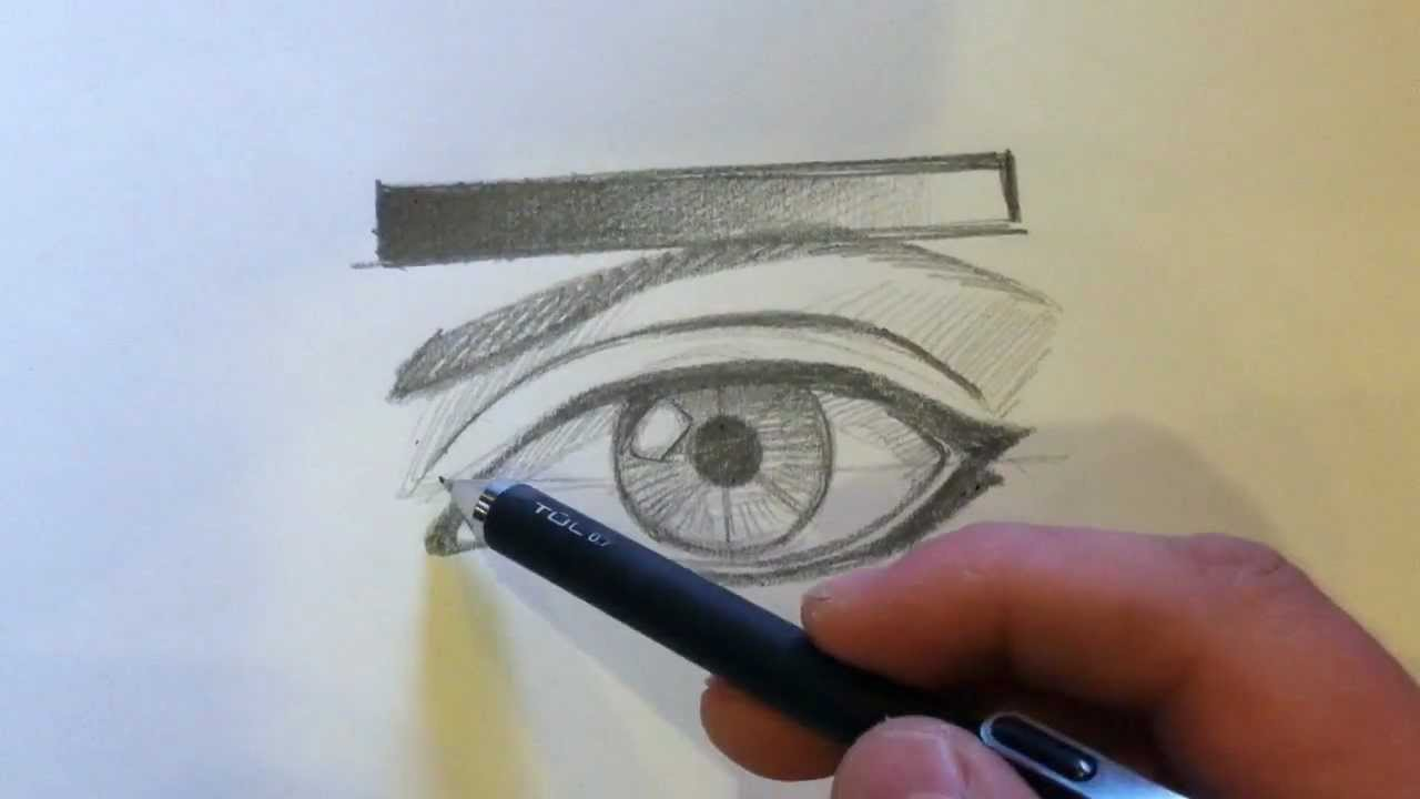 How to draw the basic eye with pencil youtube
