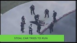 Cướp xe rồi chạy cảnh sát đuổi theo ở Mỹ tại tiểu bang California