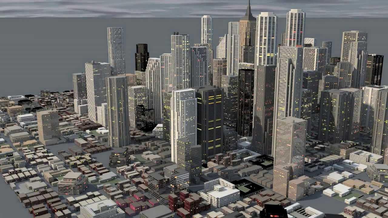 The city a cinema 4d animation youtube for Cinema 4d raumgestaltung