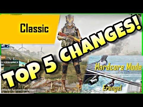 HARDCORE MODE Vs CLASSIC MODE TOP 5 CHANGES!! | PUBG MOBILE