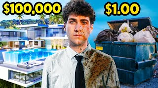 Surviving in $100,000 VS. $1 Hotel!