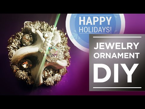 Holiday Ornaments DIY, from IKEA Ice Tray, Old Jewelry and Concrete!