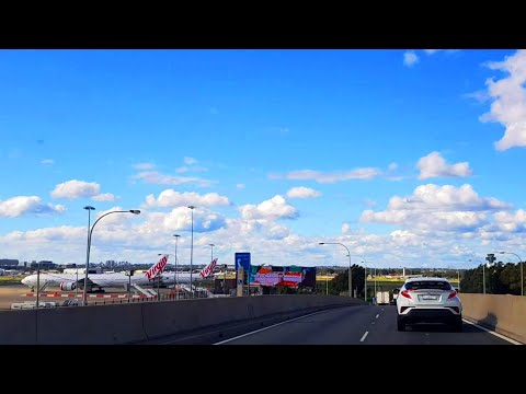 Sydney M5 Tunnel Drive To Sydney Domestic Airport - Entering From Kingsgrove Road - Sydney Roads #1