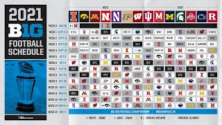 The 2021 Big Ten Football Schedule Dropped. What Are The Storylines?   Big Ten Football
