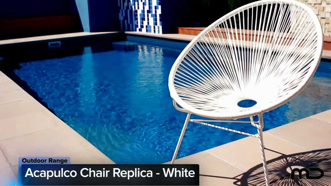 Acapulco Chair Replica Outdoor Wicker White Milan