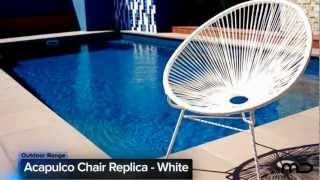 Acapulco Chair Replica - Outdoor Wicker -  White - Milan Direct