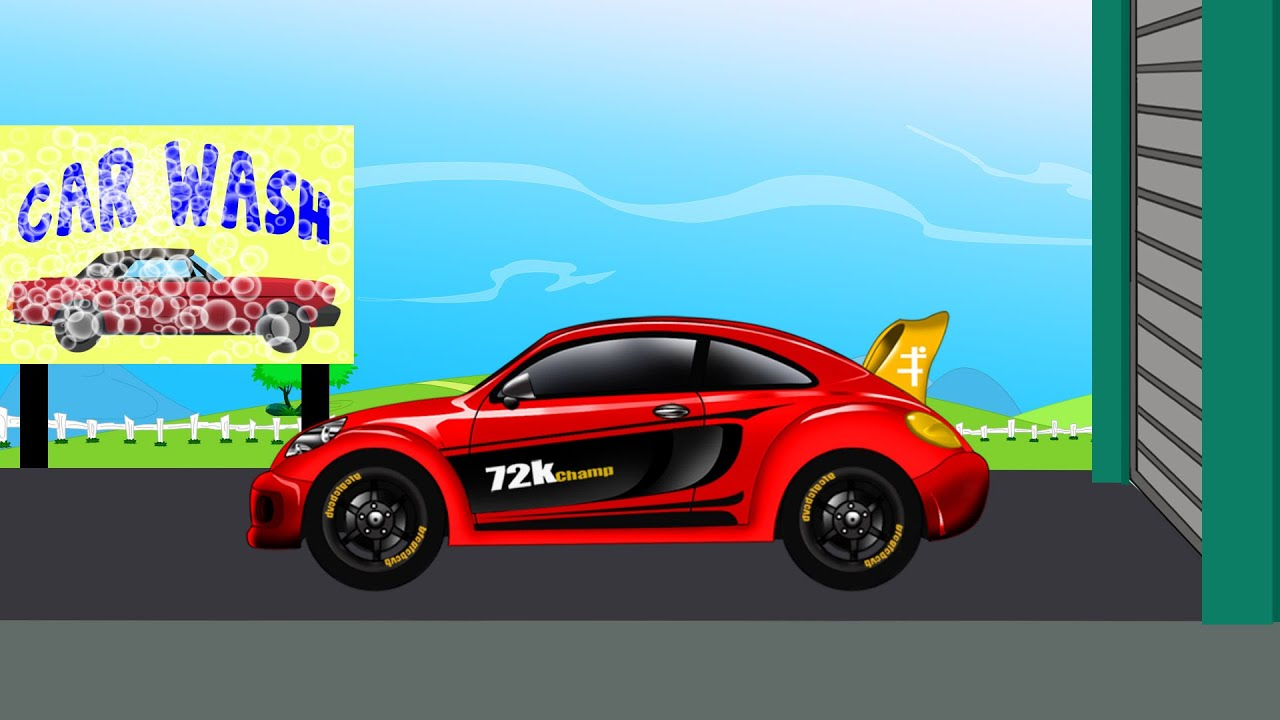 Racing Car | Sports Car | Car Wash - YouTube