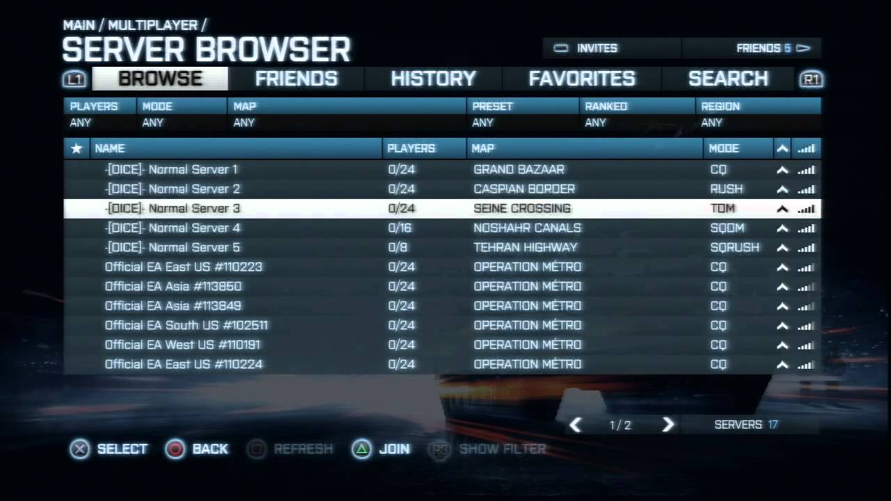 Battlefield 4 New UI Update   New Look Server Browser and ...