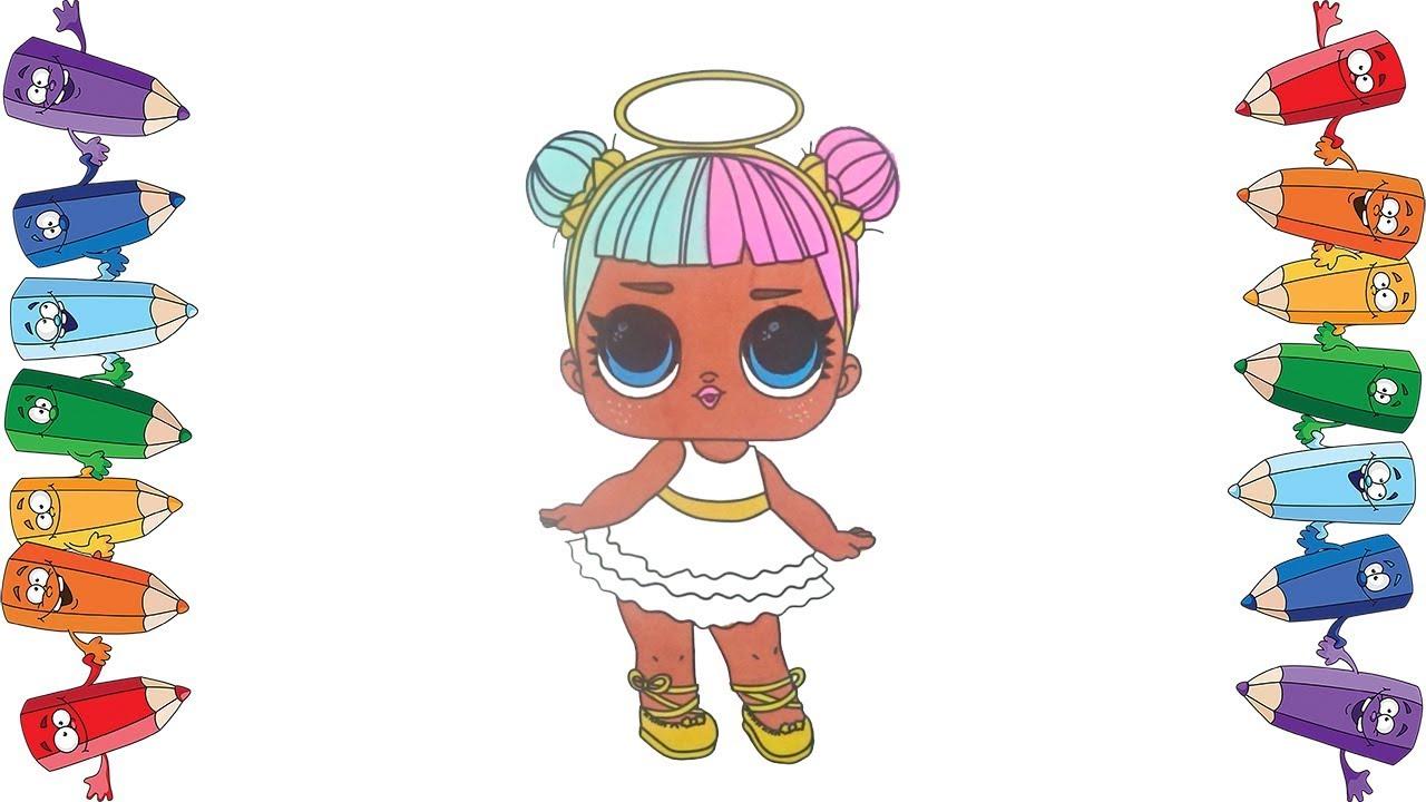Как нарисовать куколку Лол Раскраска мультик для детей ...
