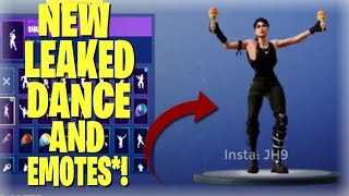 *NEW* Fortnite Season 5 Emotes and DANCES Leaked! (Job Well Done,Fancy Fee AND MORE)