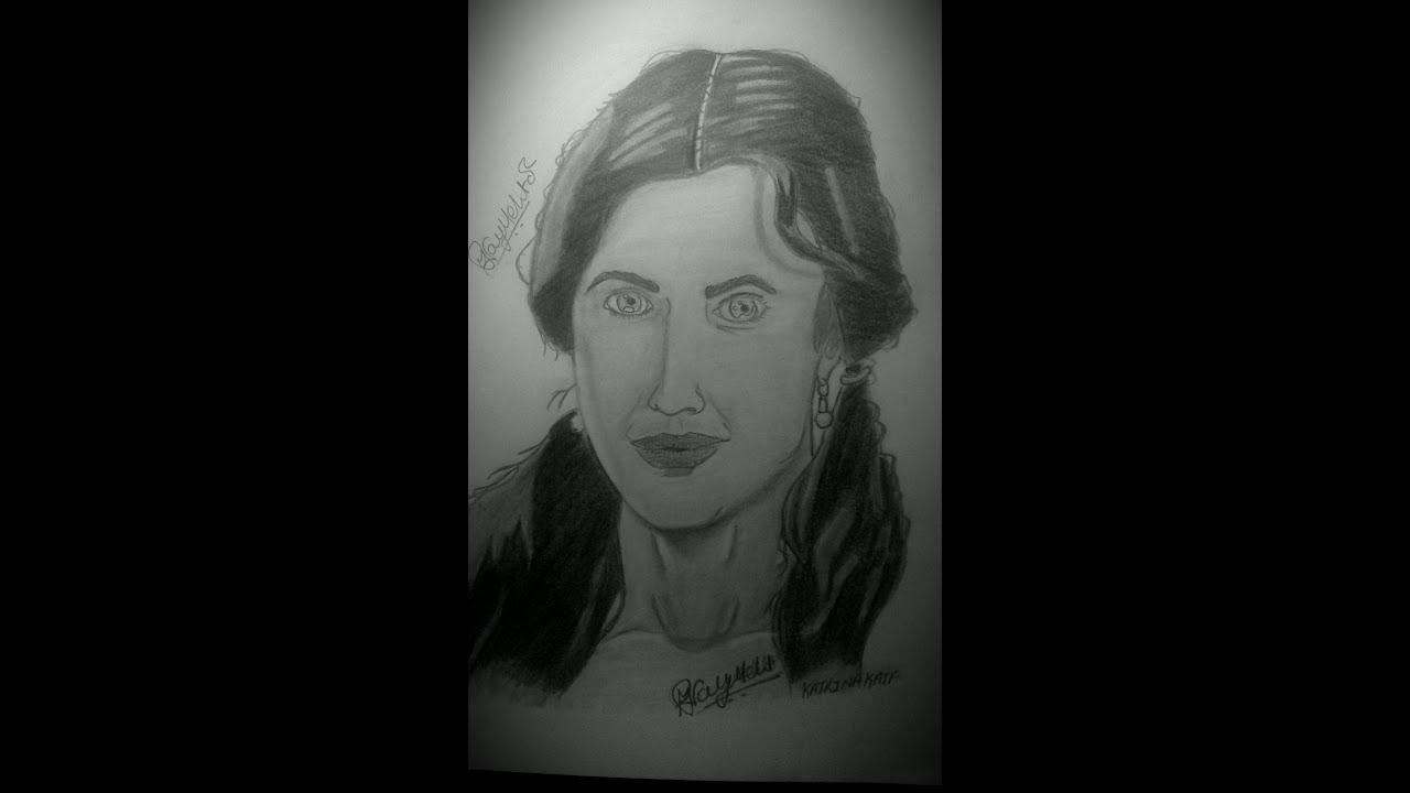 How to draw katrina kaif