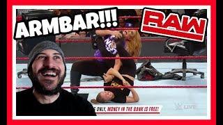 REACTION   RONDA ROUSEY PUTS NIA JAX IN AN ARMBAR!!!   WWE RAW JUNE 11, 2018
