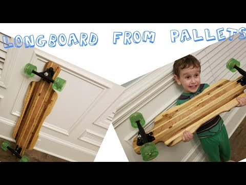 How to make a Awesome Long board skateboard from Pallets and amazon wheels project cost 45