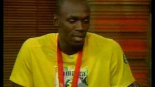 usain bolt on live with regis and kelly show pt1