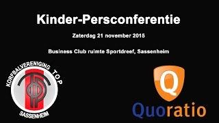 Kinder-Persconferentie TOP/Quoratio tijdens het FourICT/Korfbal Masters