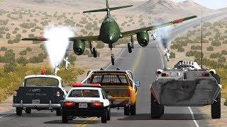 EPIC POLICE CHASES #30 - BeamNG Drive   CRASHdriven screenshot 3