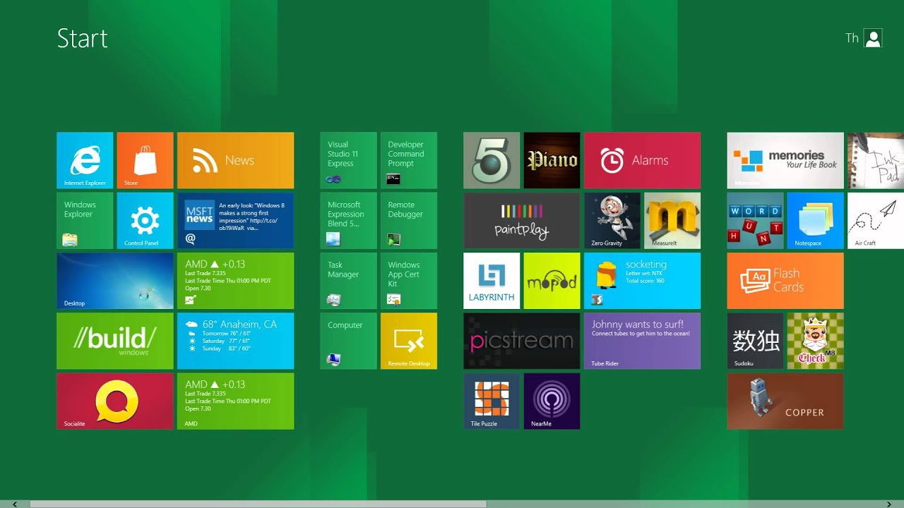 Windows 8 Preview: Switching to Desktop Mode - YouTube Desktop Mode