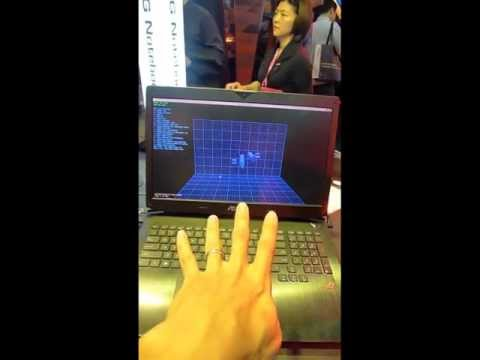 Leap Motion real-time finger tracking at ASUS in COMPUTEX2013