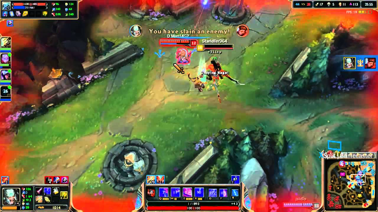 League of Legends Demonblade Tryndamere Gameplay - YouTube