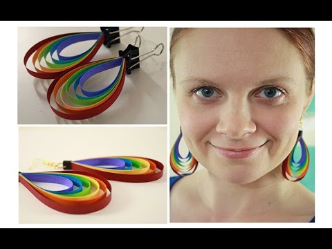 Colorful Quilling paper Earring designs making methods   Earrings Making video