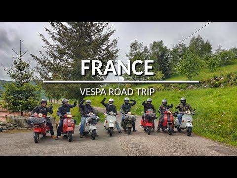 Vespa Tour Road Trip Frankreich Vogesen / France Vosges, Vespa Wheely, Vespatuning, Vesparace