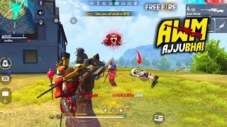 Ajjubhai \u0026 Amitbhai AWM Duo Best Game Must Watch - Garena Free Fire