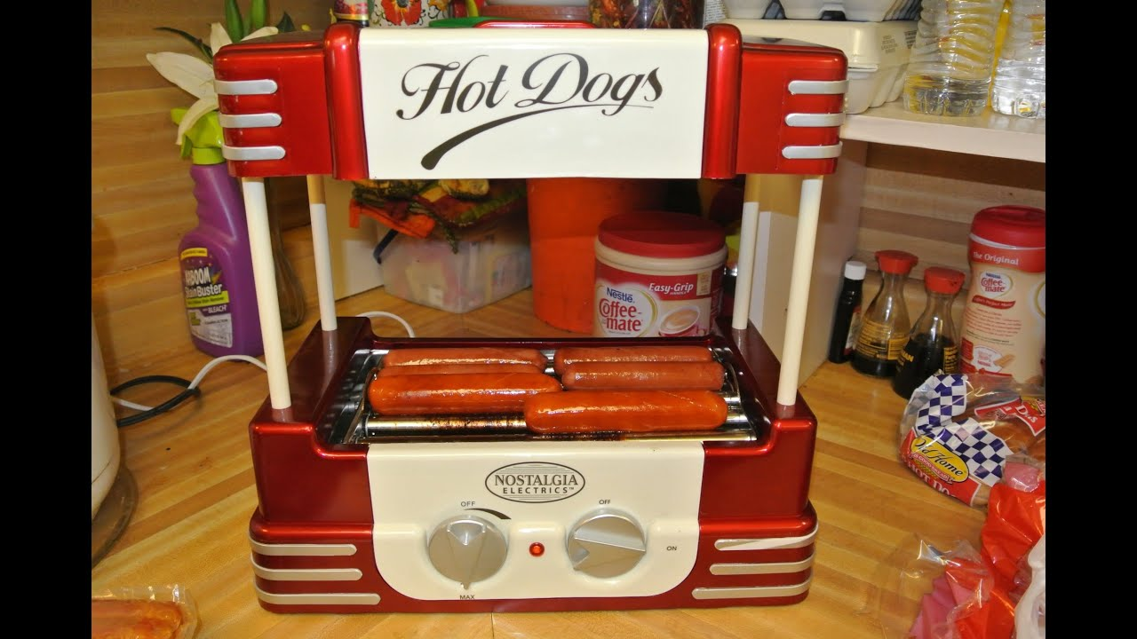 Old fashion hot dog roller 30