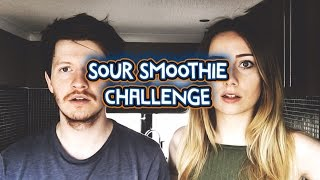 SOUR SMOOTHIE CHALLENGE WITH MY GIRLFRIEND