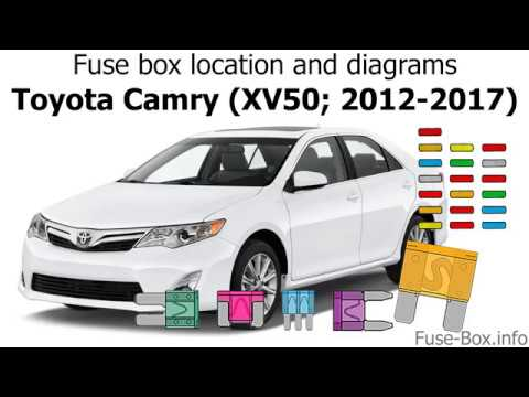 fuse box location and diagrams toyota camry (xv50; 2012 1998 Avalon Fuse Box