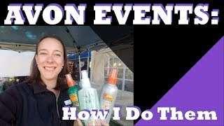 How I have Avon Events